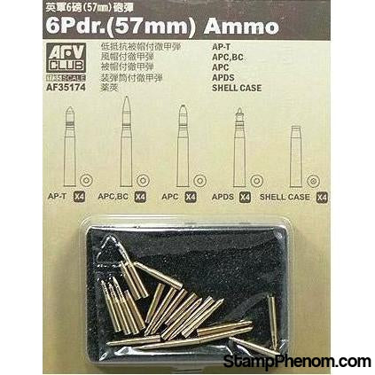 AFV Club - 6Pdr 57mm Ammo 1:35-Model Kits-AFV Club-StampPhenom