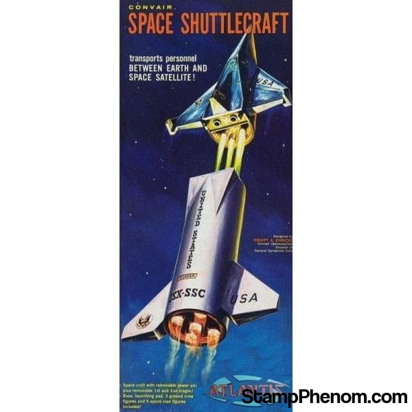 Atlantis - Convair Space Shuttlecraft w/Launching Pad, Figures & Base 1:150-Model Kits-Atlantis-StampPhenom