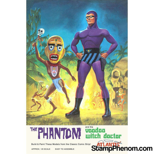Atlantis - The Phantom and the Voodoo Witch Doctor 1:8-Model Kits-Atlantis-StampPhenom