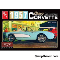 AMT - Cindy Lewis '57 Corvette White 1:25-Model Kits-AMT-StampPhenom