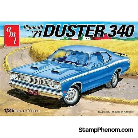 AMT - '71 Plymouth Duster 340-Model Kits-AMT-StampPhenom