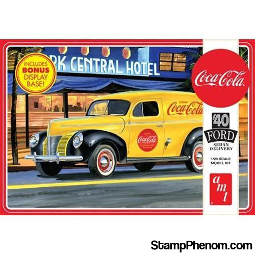 AMT - 1940 Ford Sedan Delivery (Coca‐Cola) 1:25-Model Kits-AMT-StampPhenom