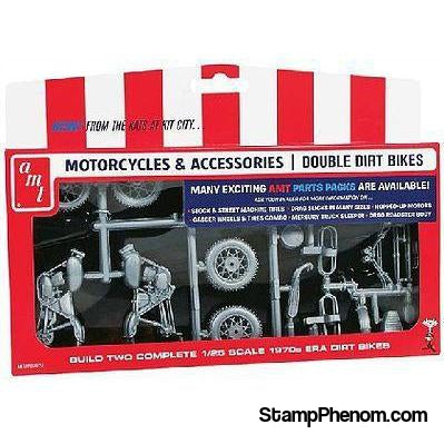 AMT - Motorcycle Parts Pack Double Dirt Bike-Model Kits-AMT-StampPhenom