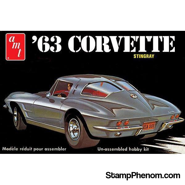 AMT - '63 Corvette 1:25-Model Kits-AMT-StampPhenom