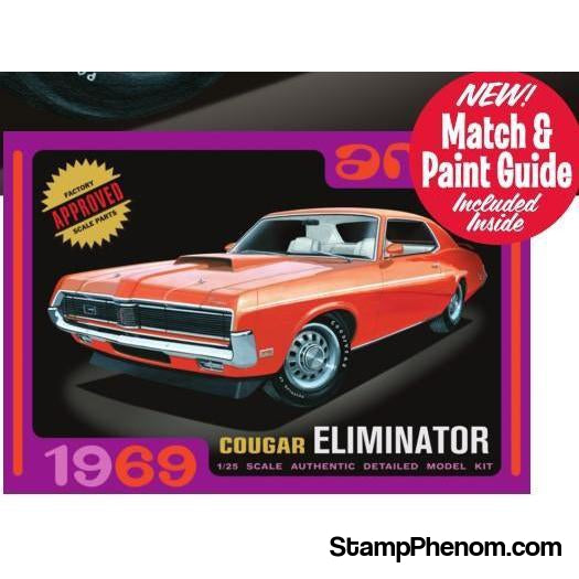 AMT - '69 Mercury Cougar Orange 1:25-Model Kits-AMT-StampPhenom