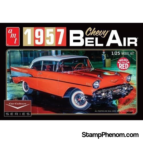 AMT - '57 Chevy Bel Air Red 1:25-Model Kits-AMT-StampPhenom