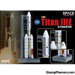 Dragon - Titan IIIE with Launch pad 1:400-Model Kits-Dragon-StampPhenom
