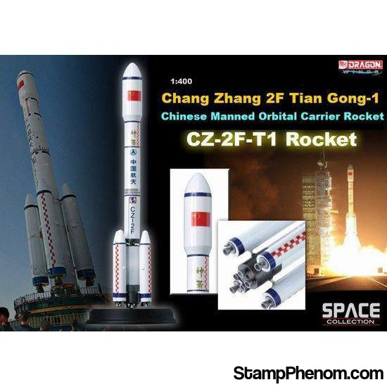 Dragon - CZ-2F-T1 Rocket Chang Zheng 2F Tian Gong-1 1:400-Model Kits-Dragon-StampPhenom