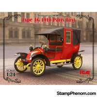 ICM - 1910 Type AF Paris Taxi 1:24-Model Kits-ICM-StampPhenom