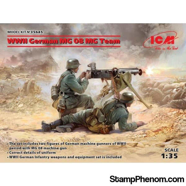 ICM - WWII German MG08 Machine Gun Team 1:35-Model Kits-ICM-StampPhenom