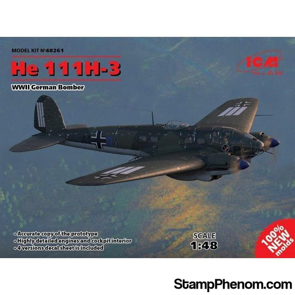 ICM - German HE111H3 Bomber 1:48-Model Kits-ICM-StampPhenom