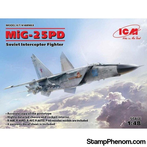 ICM - MIG25PD/PDS Soviet Fighter 1:48-Model Kits-ICM-StampPhenom