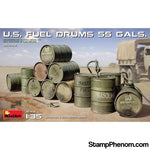 MiniArt - US Fuel Drums 55 Gals(12) 1:35-Model Kits-MiniArt-StampPhenom