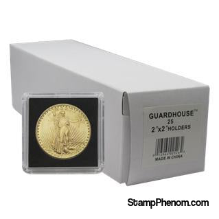 $20 Gold 2x2 Tetra Snaplock Coin Holder- 25 per pack-Guardhouse Tetra Snaplocks-Guardhouse-StampPhenom