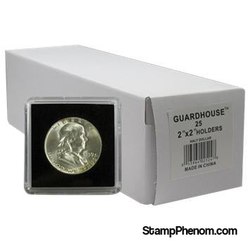 Half Dollar 2x2 Tetra Snaplock Coin Holder - 25 per pack-Guardhouse Tetra Snaplocks-Guardhouse-StampPhenom