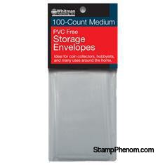 PVC-Free Poly Envelopes - Medium-Poly Bags & Ziplocks-Whitman-StampPhenom