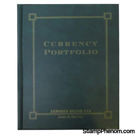 Currency Portfolio- Green-Slab and Currency Albums-Armored Brand USA-StampPhenom