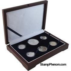 Guardhouse Wood Display Box - GH-W1300 - Direct Fit Mint or Proof Set (Cent through $ or ASE)-Display Boxes for Round Coin Holders-Guardhouse-StampPhenom