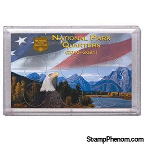 National Parks Flag and Eagle Design Frosty Case - 6 Hole-Coin Holders & Capsules-HE Harris & Co-StampPhenom