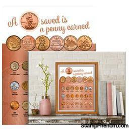 Whitman Deluxe Coin Board: Cent-Collector Maps, Archives, Kits & Boards-Whitman-StampPhenom