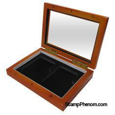 Wood Glass-top Display Slab Box - 2 Slab Universal-Display Boxes for Certified Coins-Guardhouse-StampPhenom