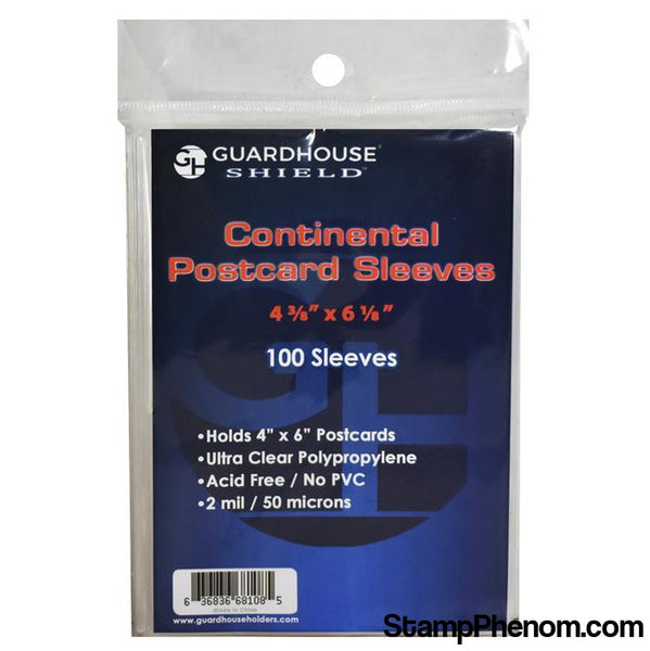 Shield Sleeve for Continental Postcards-Sleeves, Bags & Boards-Guardhouse Shield-StampPhenom