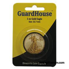 1 oz American Gold Eagle Direct Fit Guardhouse Capsule - Retail Card-Guardhouse Coin Capsules-Guardhouse-StampPhenom
