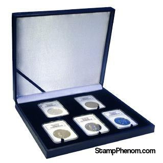 Leatherette Display Box - 5 Slab Universal-Display Boxes for Certified Coins-Guardhouse-StampPhenom