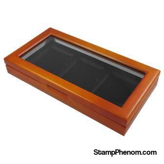 Wood Glass-top Display Slab Box - 3 Slab Universal-Display Boxes for Certified Coins-Guardhouse-StampPhenom