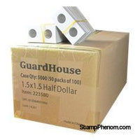Guardhouse 1.5x1.5 Half Dollar - 100/Bundle-Paper Holders-Guardhouse-StampPhenom