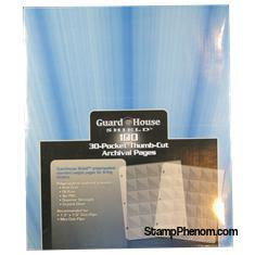 Guardhouse Shield Thumb Cut 30 Pocket (100 pack) Archival Polypropylene Pages-Notebook Pages & Binders-Guardhouse-StampPhenom