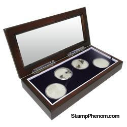 Guardhouse Glass-top Wood Display Box -GH-W1800: (4L)-Challenge Coin Boxes and Displays-Guardhouse-StampPhenom