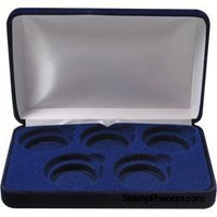 Velvet Coin Display Box - Holds 5L Capsules-Display Boxes for Round Coin Holders-Guardhouse-StampPhenom
