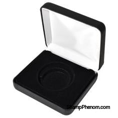 Air Tite H(L) Display Box Black Leatherette-Display Boxes for Round Coin Holders-OEM-StampPhenom