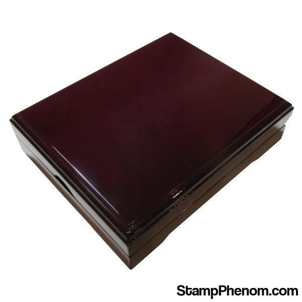 Wood Piano Finish Display Box - 1 Slab-Coin Displays-Guardhouse Display Boxes-StampPhenom