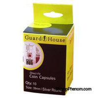 Silver Round (39mm) Direct-Fit Coin Capsules - 10 Pack-Guardhouse Coin Capsules-Guardhouse-StampPhenom