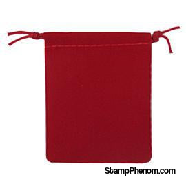 Velvet Drawstring Pouch - 2.75x3.25 Red-Draw String Pouches-Guardhouse-StampPhenom