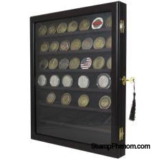 Locking Coin and Challenge Coin Cabinet with 7 Shelves and Lock-Challenge Coin Boxes and Displays-Guardhouse-StampPhenom