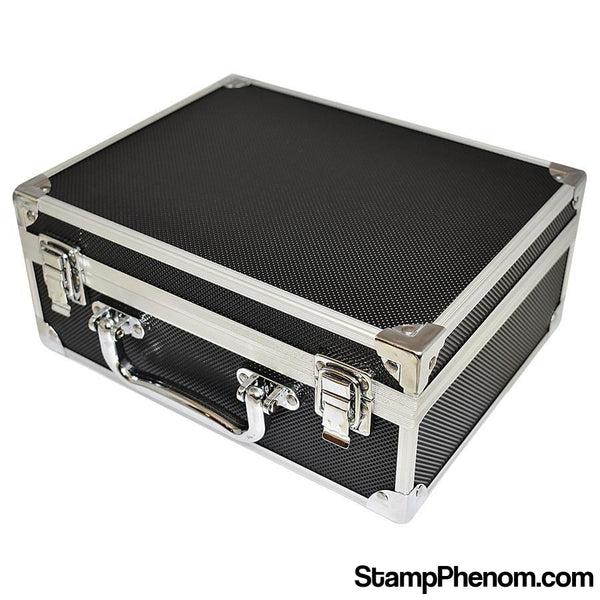 36 Slab Black & Aluminum Box - Front Handle-Display Boxes for Certified Coins-Guardhouse Display Boxes-StampPhenom