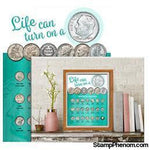 Whitman Deluxe Coin Board: Dime-Collector Maps, Archives, Kits & Boards-Whitman-StampPhenom