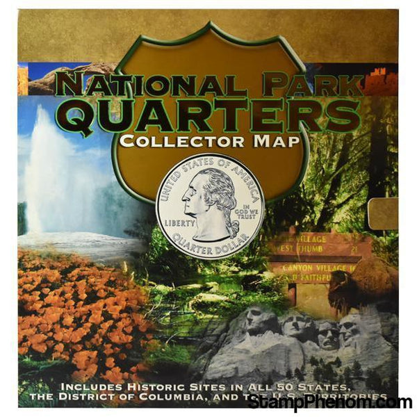 National Park Quarters Foam Map-Collector Maps, Archives, Kits & Boards-Whitman-StampPhenom