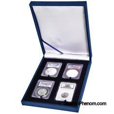 Leatherette Display Box - 4 Slab Universal-Display Boxes for Certified Coins-Guardhouse-StampPhenom