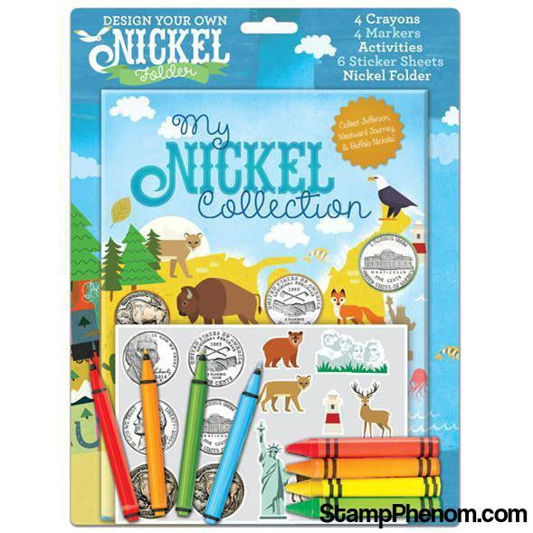 Design Your Own Nickel Folder: My Nickel Collection-Coin Collecting For Kids-Whitman-StampPhenom