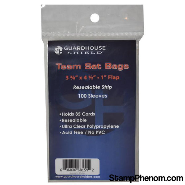 Shield Resealable Sleeve for Team Set Bags-Sleeves, Bags & Boards-Guardhouse Shield-StampPhenom
