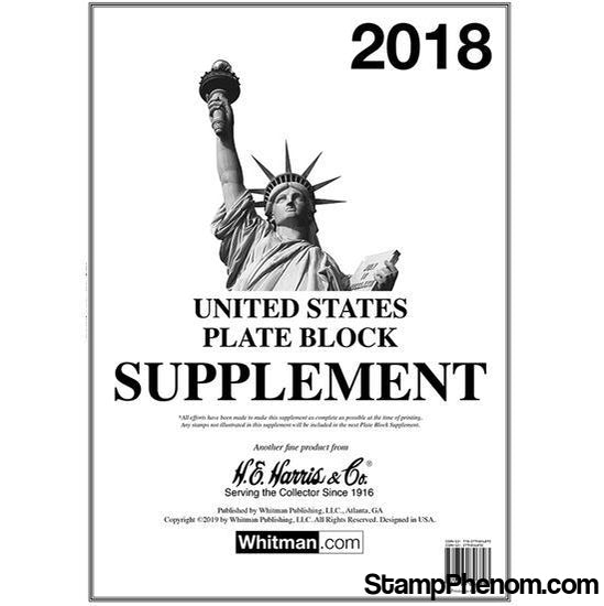 2018 Plate Block Supplement | HE Harris & Co-Album Supplements-HE Harris & Co-StampPhenom
