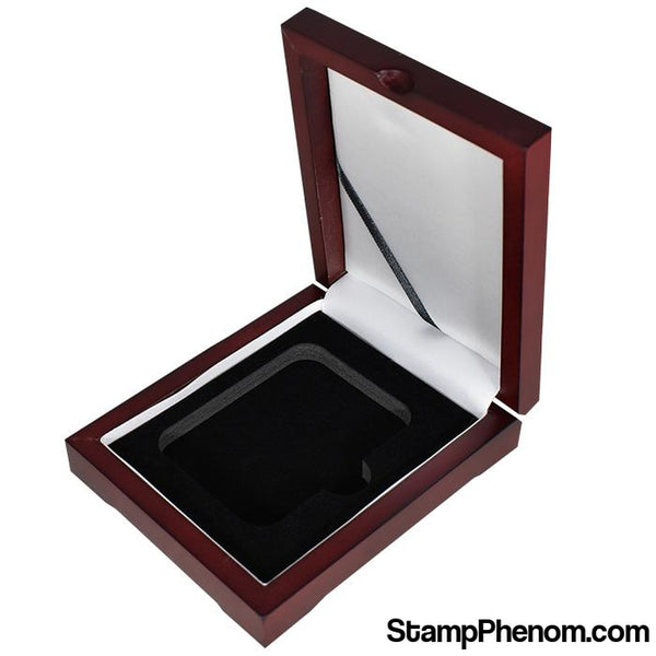 Universal Wood Display Box - 1 Slab-Display Boxes for Certified Coins-Guardhouse Display Boxes-StampPhenom