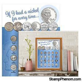 Whitman Deluxe Coin Board: Nickel-Collector Maps, Archives, Kits & Boards-Whitman-StampPhenom