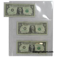 3-Pocket Side-Loading Currency Page-Notebook Pages & Binders-Guardhouse-StampPhenom