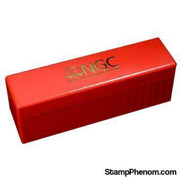 Official NGC 20 Slab Box - RED-Plastic Boxes-NGC-StampPhenom