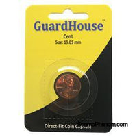 Cent Direct Fit Guardhouse Capsule - Retail Card-Guardhouse Coin Capsules-Guardhouse-StampPhenom